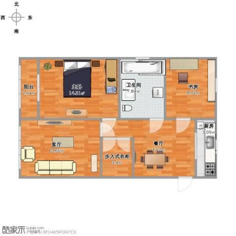 月浦八村2室2厅1卫1厨72.00㎡户型图