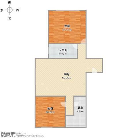 江南造船新苑2室1厅1卫1厨126.00㎡户型图