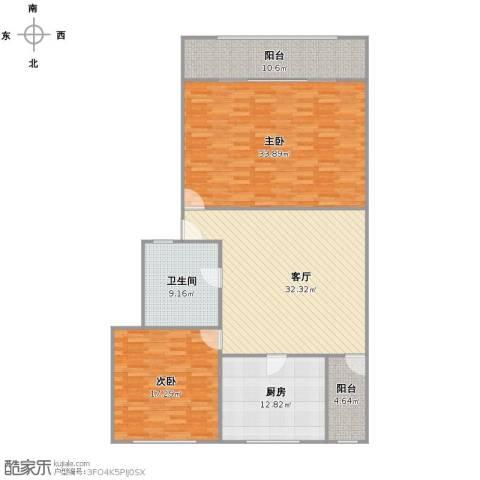 茂名坊2室1厅1卫1厨160.00㎡户型图