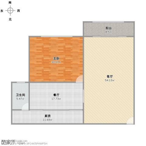 新天地荻泾花园1室2厅1卫1厨168.00㎡户型图