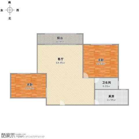 慧芝湖花园2室1厅1卫1厨146.00㎡户型图