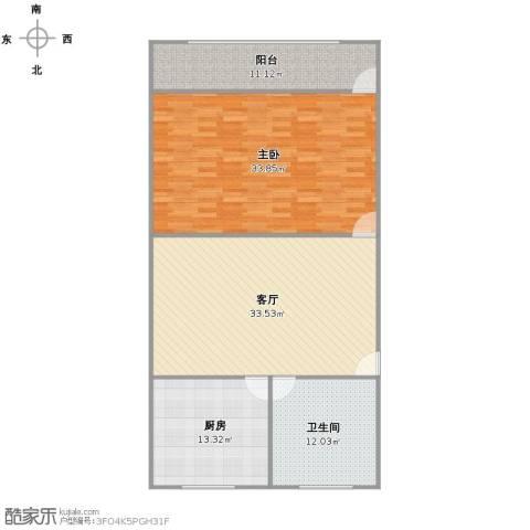 浦东大道2641弄小区1室1厅1卫1厨137.00㎡户型图