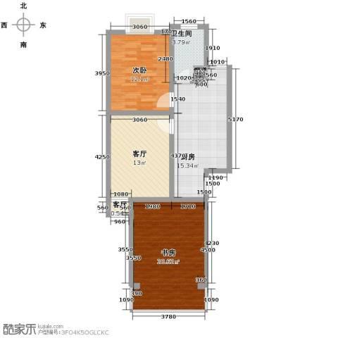 金帆小区2室2厅1卫1厨94.00㎡户型图