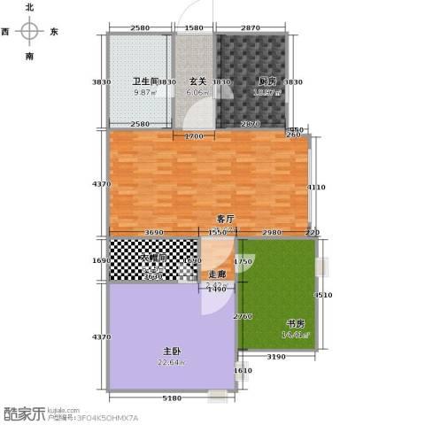 公园世家・观山樾2室1厅1卫1厨144.00㎡户型图