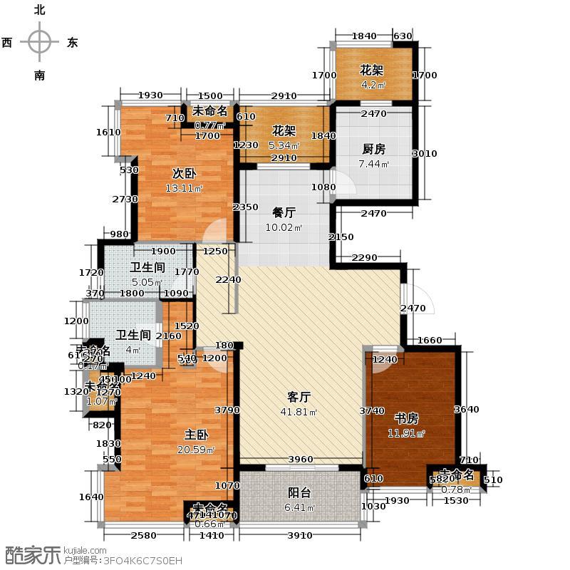 公园城140.00㎡F户型4室2厅2卫