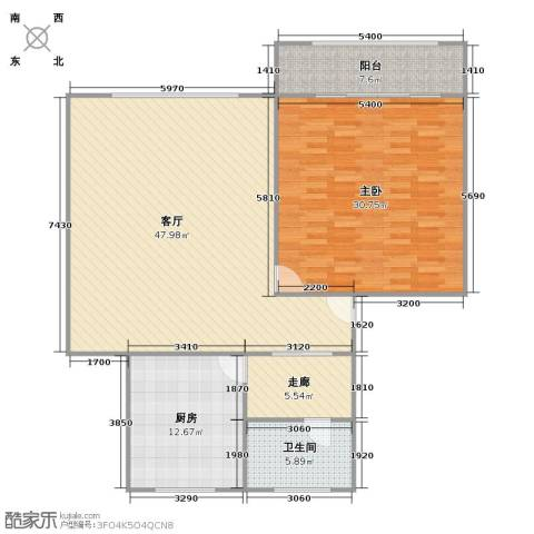 银山小区1室1厅1卫1厨146.00㎡户型图