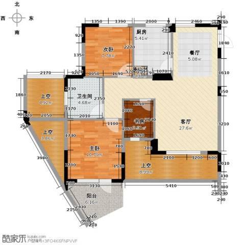 天鸿香榭里3室2厅1卫0厨89.00㎡户型图