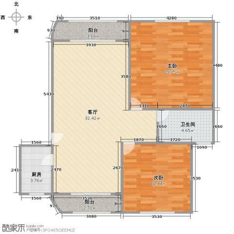 成亿宝盛家苑2室1厅1卫1厨106.00㎡户型图