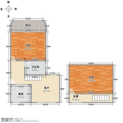 场中路755弄小区2室1厅1卫1厨105.00㎡户型图