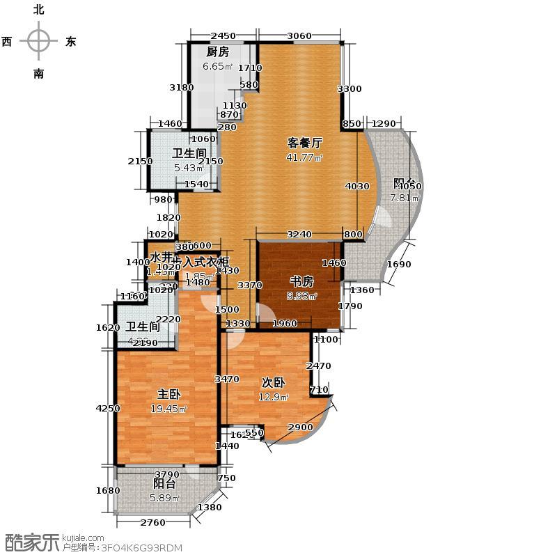 绿城丽江公寓143.00㎡丽江公寓3-E()户型10室