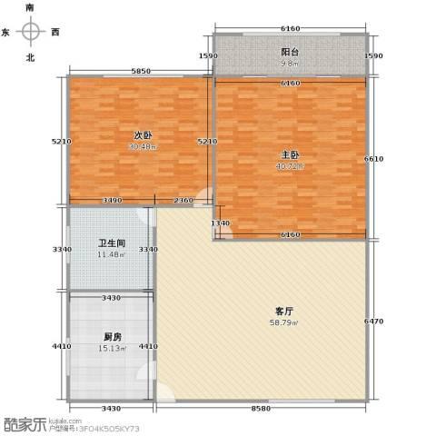驰骋大楼2室1厅1卫1厨218.00㎡户型图