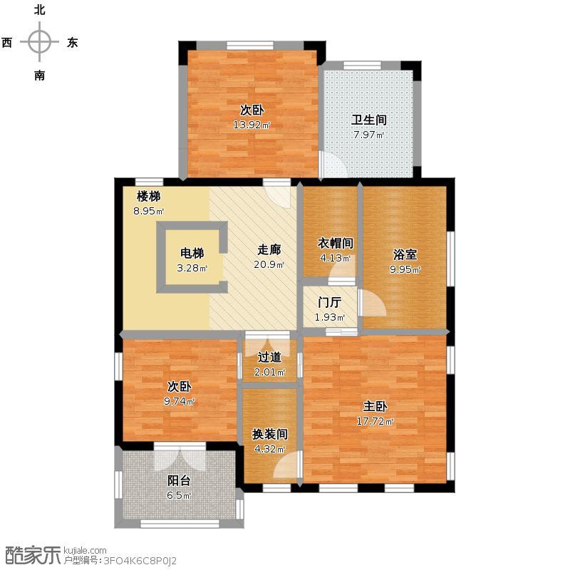 野风山421.00㎡C三层户型10室