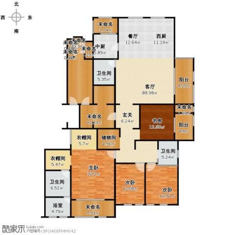万科草庄3室1厅2卫0厨240.00㎡户型图
