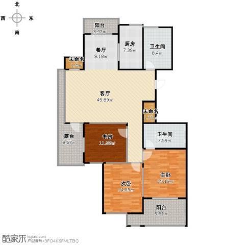 阳光景台3室1厅2卫1厨136.19㎡户型图