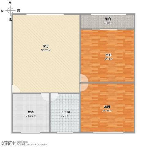 张桥小区2室1厅1卫1厨139.77㎡户型图