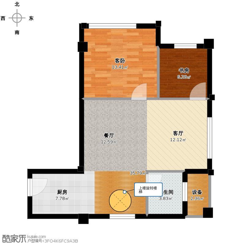 海辰水岸晶座68.34㎡一层平面图户型10室