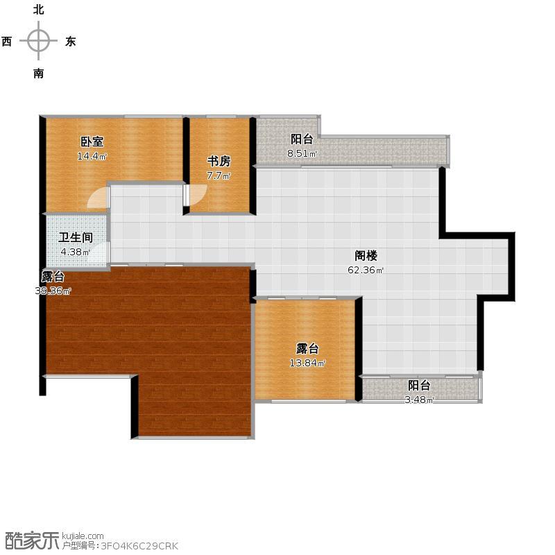 黄鹤山居188.00㎡房型复式户型1室1卫