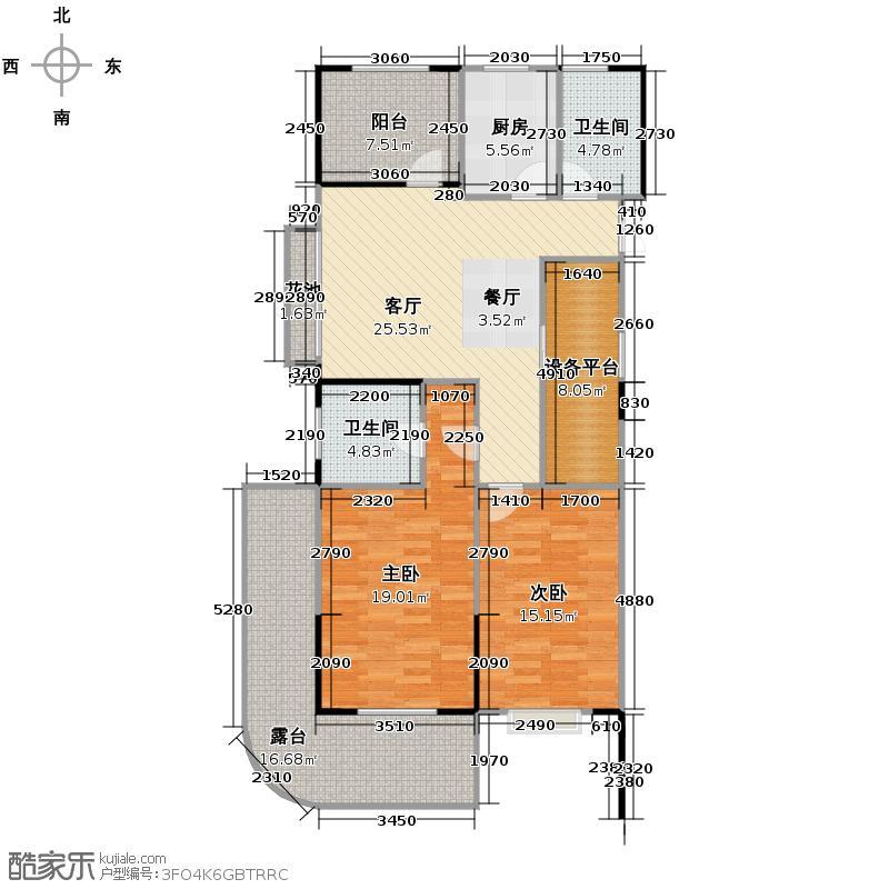 财和湘域湾108.00㎡F奇数层户型3室2厅2卫