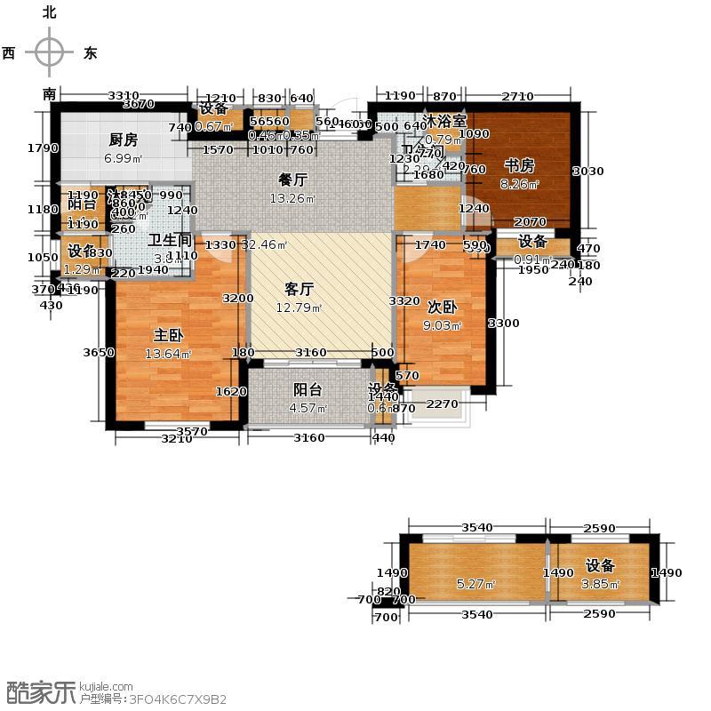 青山鹤岭104.00㎡F套型公寓户型3室2厅2卫
