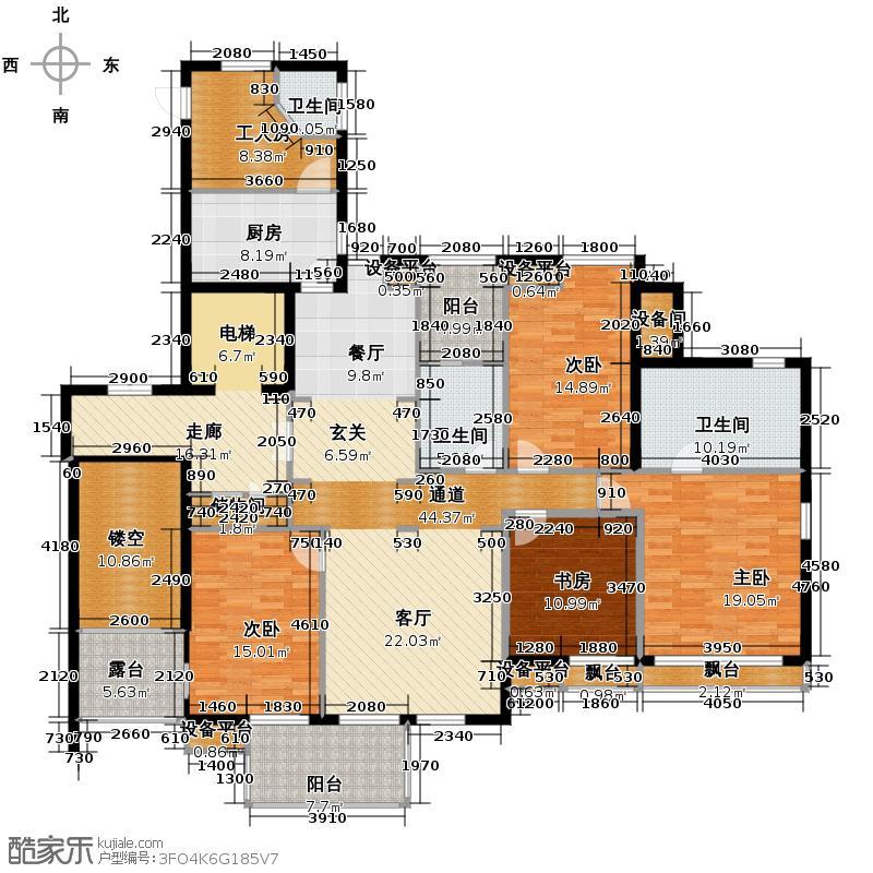 和家园183.00㎡A户型5室2厅3卫