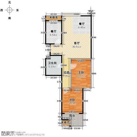 阳光景台2室2厅1卫0厨87.00㎡户型图