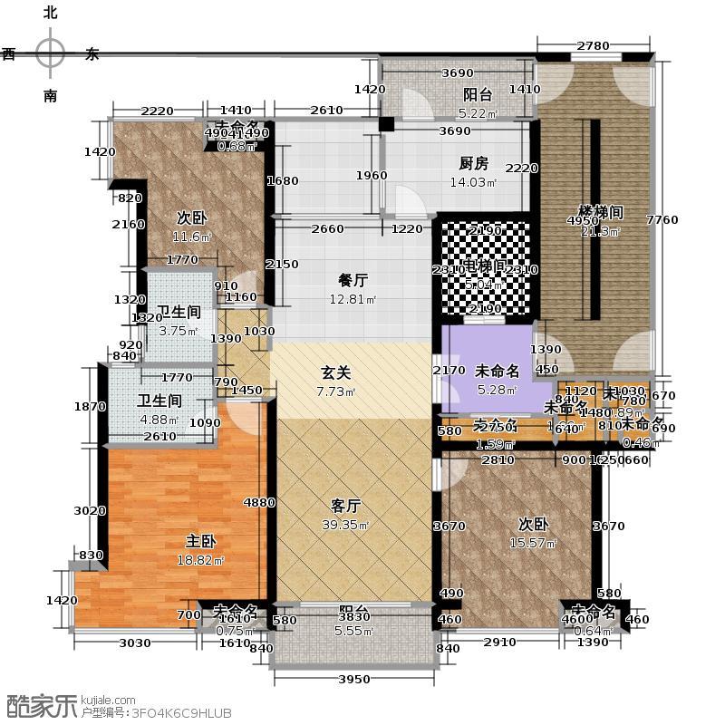 开元广场136.00㎡D2户型3室2厅2卫