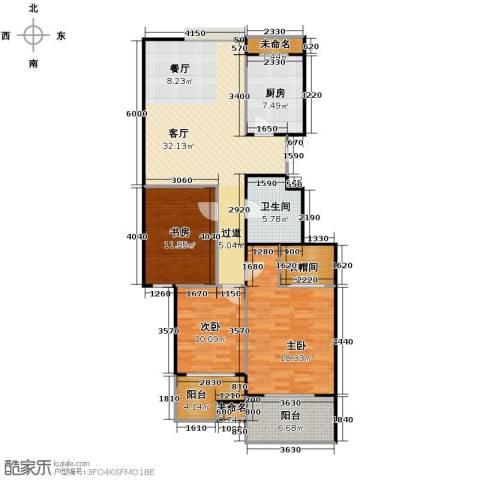 阳光景台3室1厅1卫1厨116.00㎡户型图