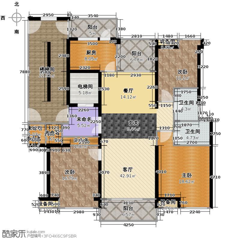 开元广场136.00㎡D1户型3室2厅2卫