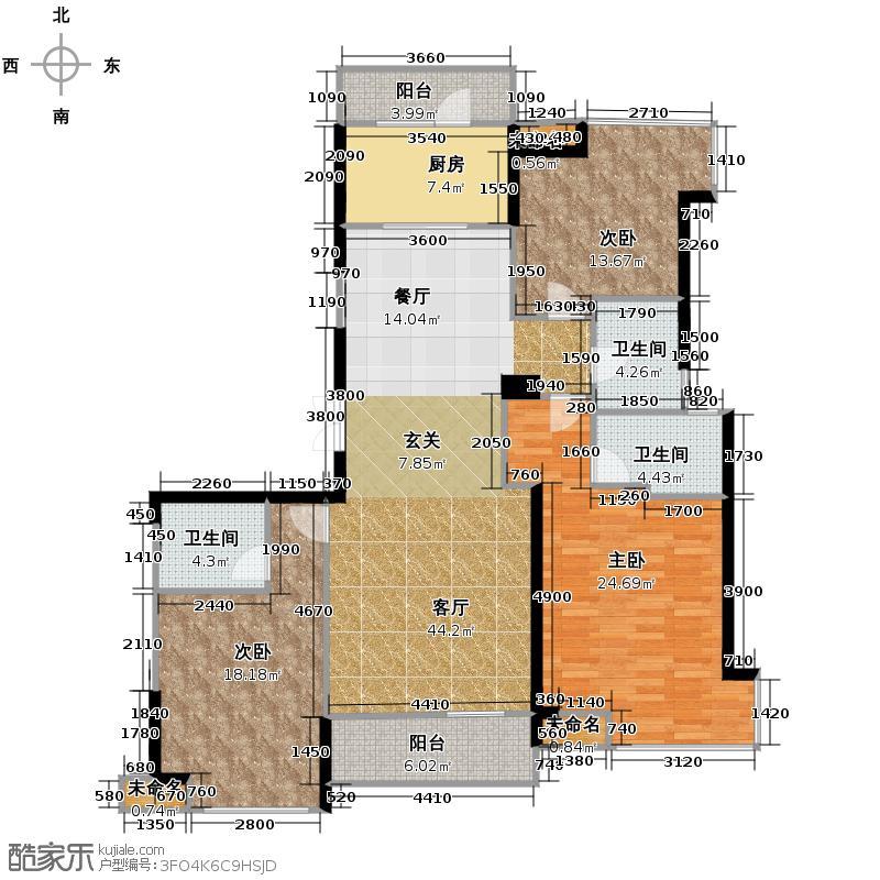 开元广场166.00㎡E/F1户型3室2厅3卫