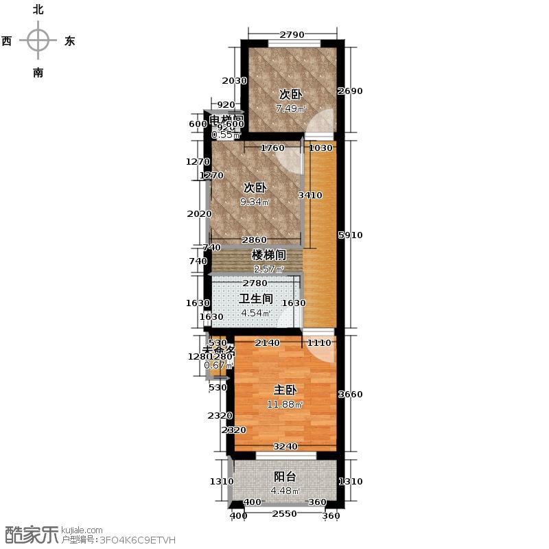 高运学林尚苑115.44㎡F上层户型5室2厅2卫