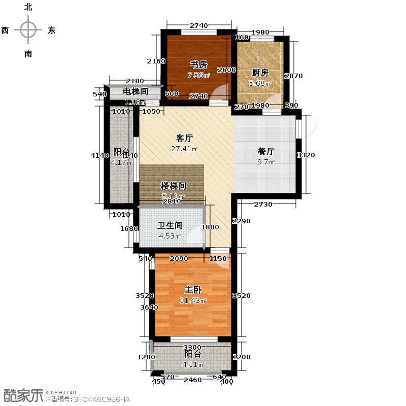 高运学林尚苑115.44㎡F下层户型5室2厅2卫