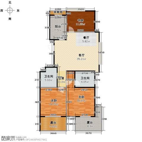 阳光景台3室1厅2卫0厨156.00㎡户型图