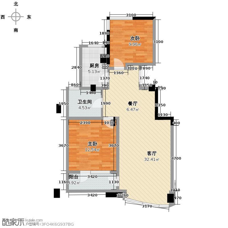 绿城丽江公寓89.00㎡丽江公寓1-C()户型10室