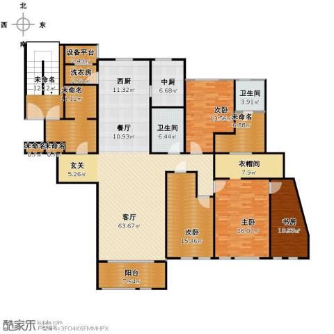 万科草庄4室1厅2卫0厨200.00㎡户型图