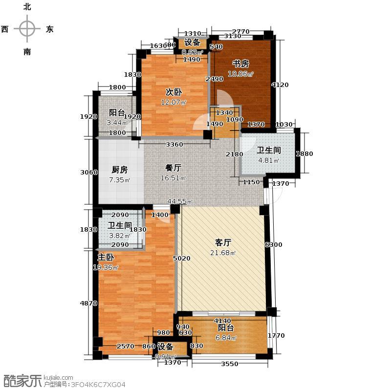 青山鹤岭115.00㎡H套型公寓户型3室2厅2卫