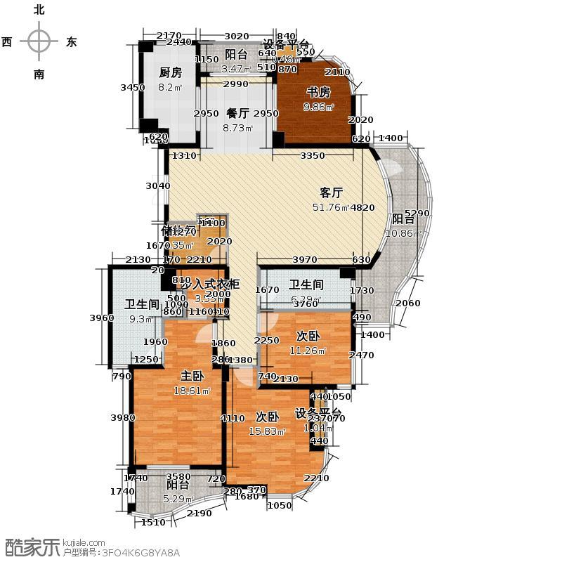 绿城丽江公寓178.68㎡3期金沙苑A户型10室