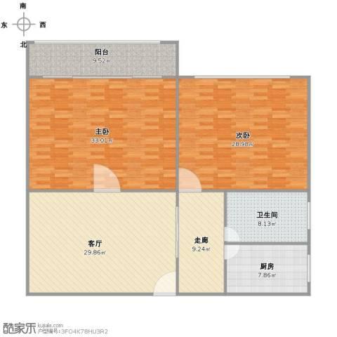 剑河小区2室1厅1卫1厨167.00㎡户型图