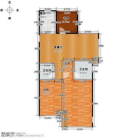 天阳尚城国际3室2厅2卫0厨90.00㎡户型图
