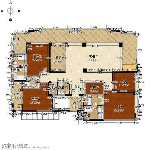 丁香公馆2室0厅2卫1厨287.00㎡户型图