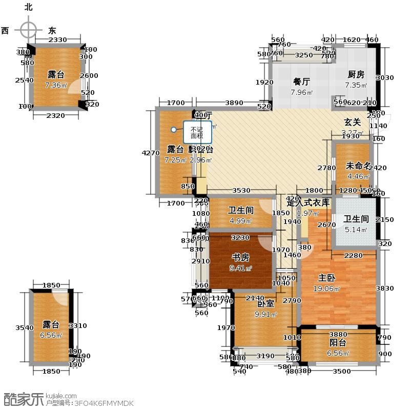 顺发吉祥半岛131.00㎡G户型3室2厅2卫