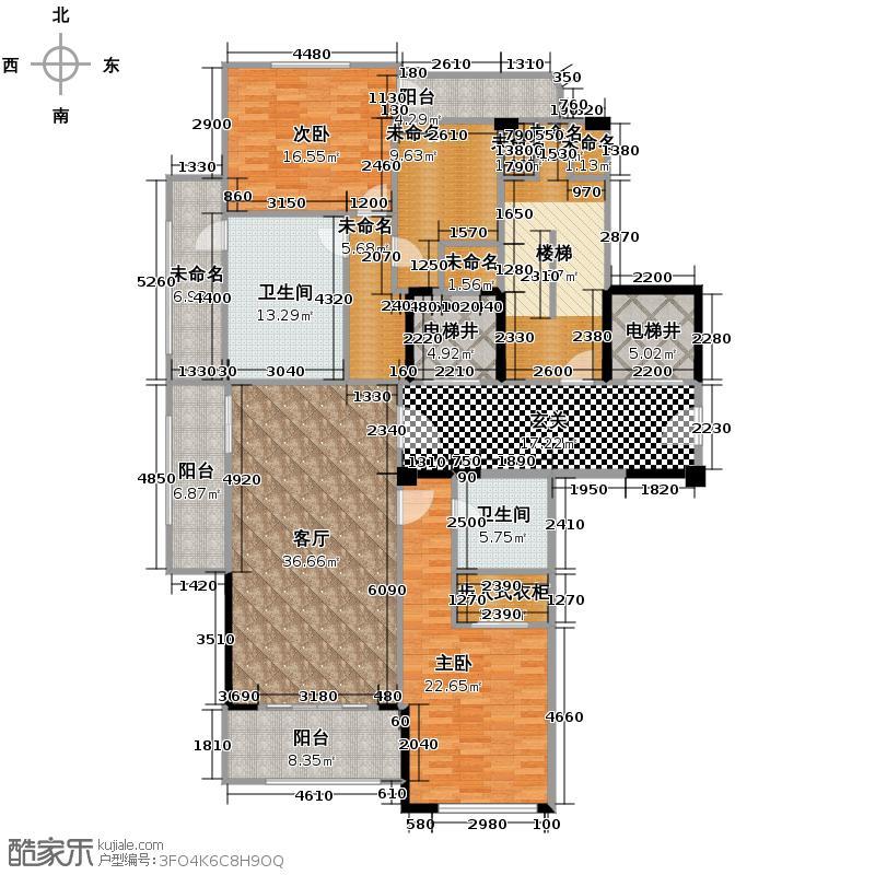 富春和园153.00㎡A户型3室2厅2卫