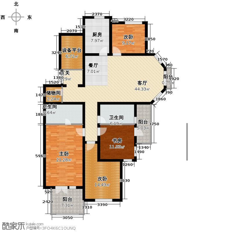 绿城紫桂公寓162.00㎡户型10室