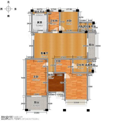 德信早城4室1厅2卫1厨137.00㎡户型图