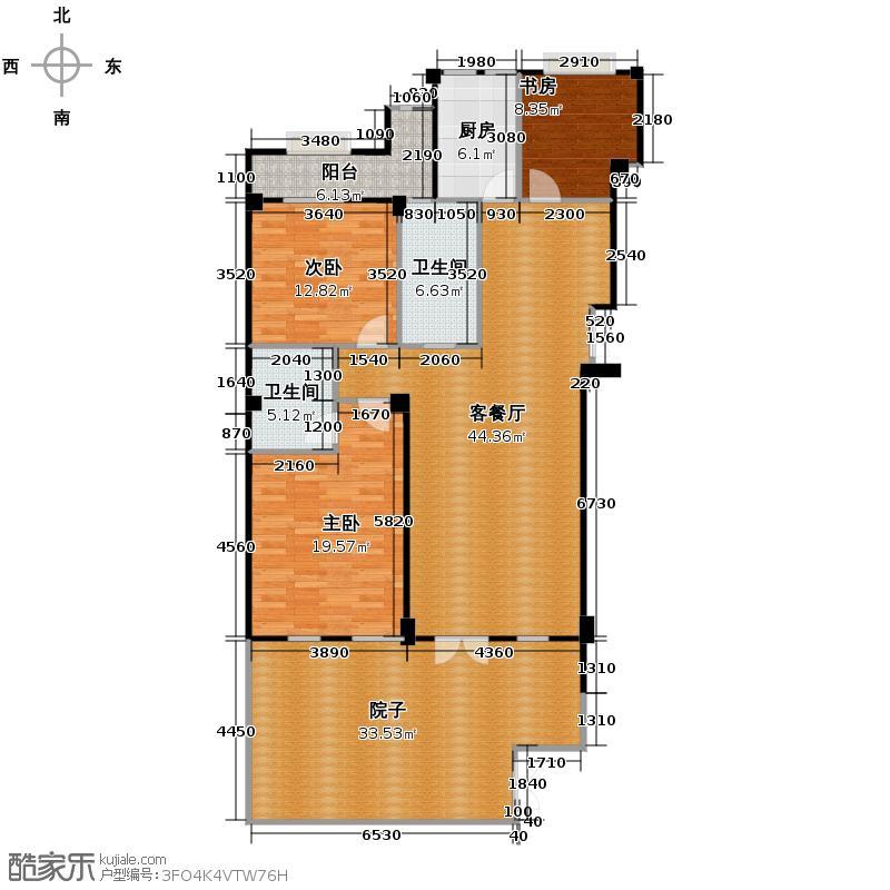 戈雅公寓129.67㎡户型3室1厅2卫1厨