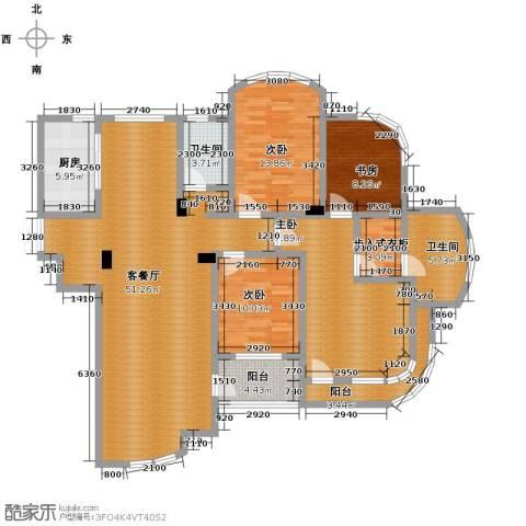 玉兰公寓4室1厅2卫1厨180.00㎡户型图