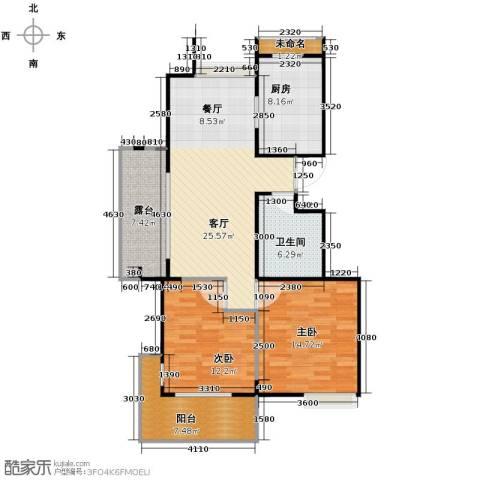 阳光景台2室1厅1卫1厨87.00㎡户型图