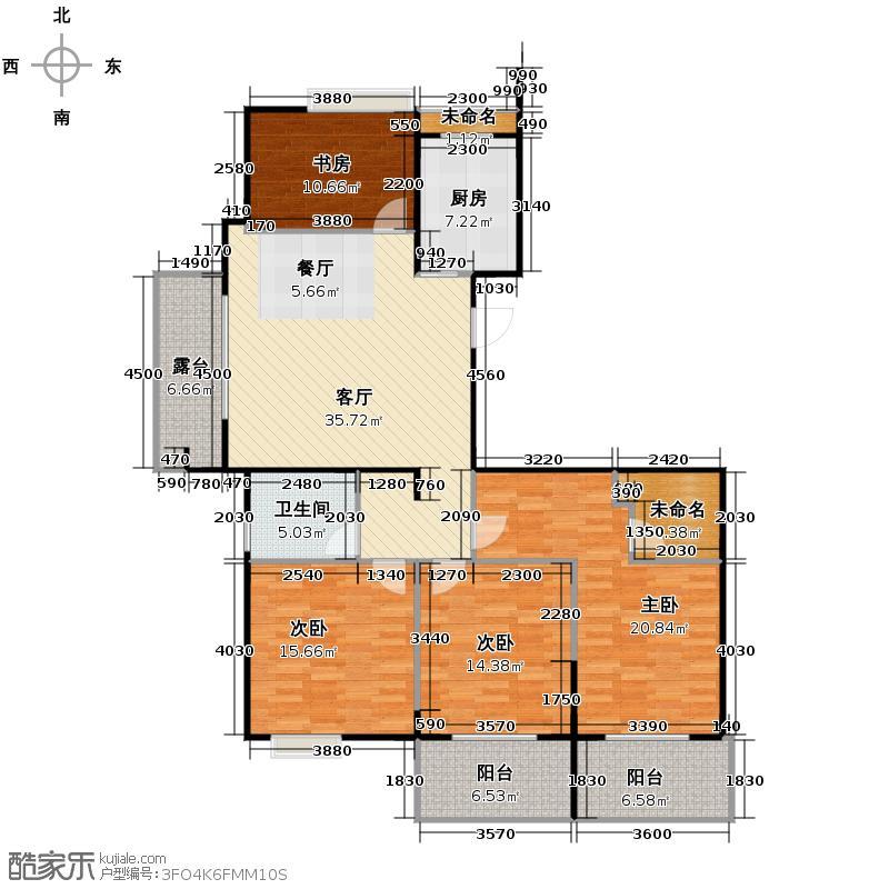 阳光景台150.00㎡2#M奇数层户型4室1厅1卫1厨