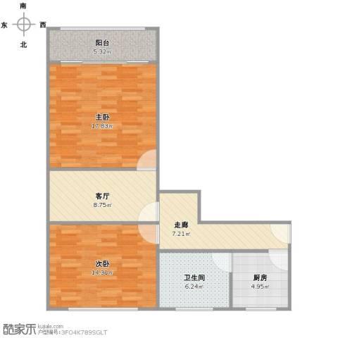梅陇六村2室1厅1卫1厨88.00㎡户型图