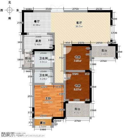 伊萨卡排屋3室1厅2卫1厨132.00㎡户型图