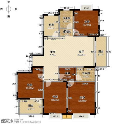 发展今日嘉园4室1厅2卫1厨155.00㎡户型图